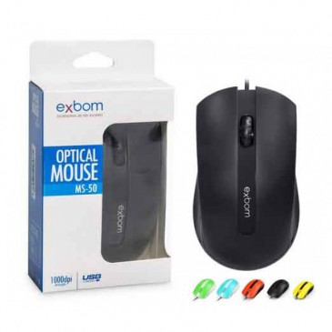 MOUSE USB EXBOM MS-50 (Ref: 130239)