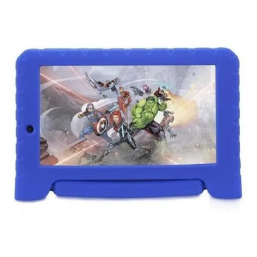"Tablet Multilaser Disney Vingadores Plus 7"" 16GB azul com memória RAM 1GB"